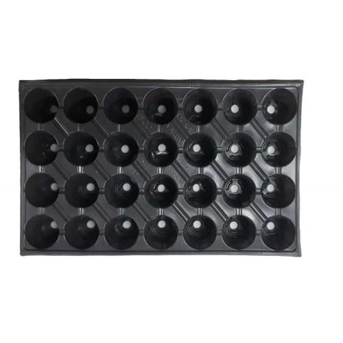 Пластмасова табла за разсад 28 гнезда кръгли - 100 бр.