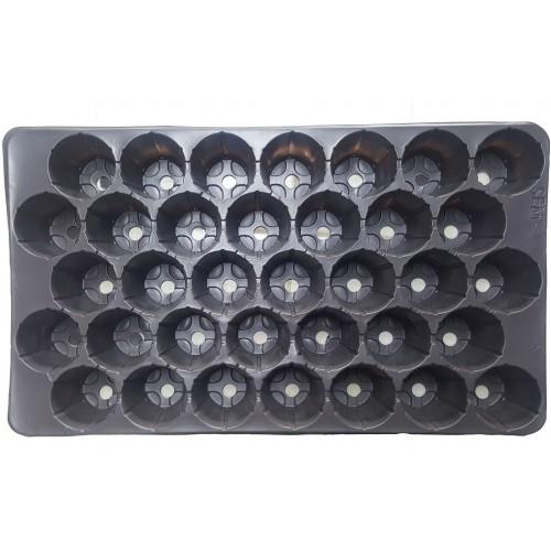 Пластмасова табла за разсад 35 гнезда кръгли