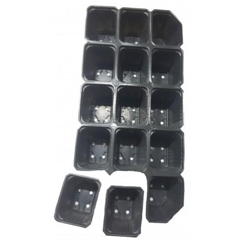 Пластмасова табла за разсад 15 гнезда - отделящи се - 100 бр.