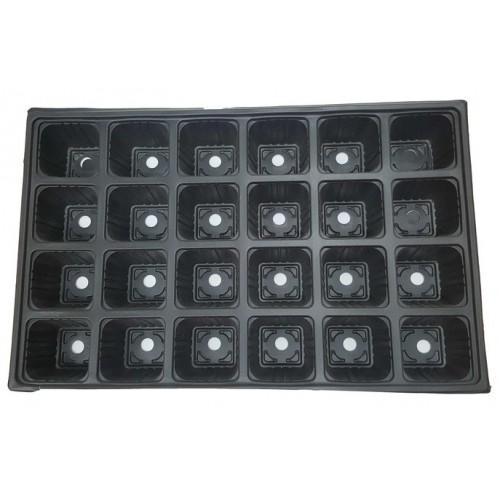Пластмасова табла за разсад 24 гнезда - 200 бр.