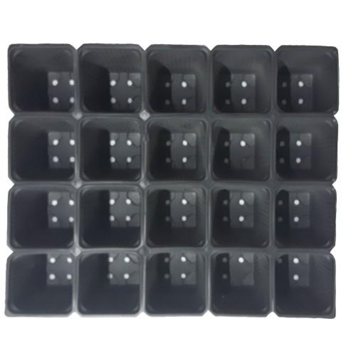 Пластмасова табла за разсад 20 гнезда - отделящи се - 100 бр.